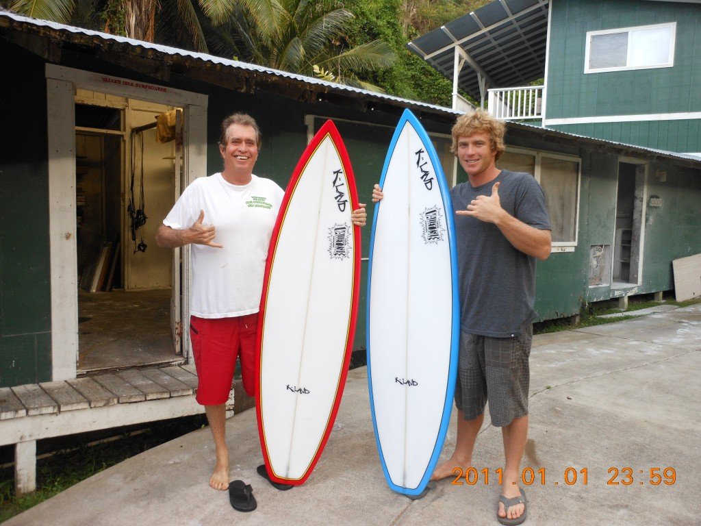 Kevin and me with his new boards